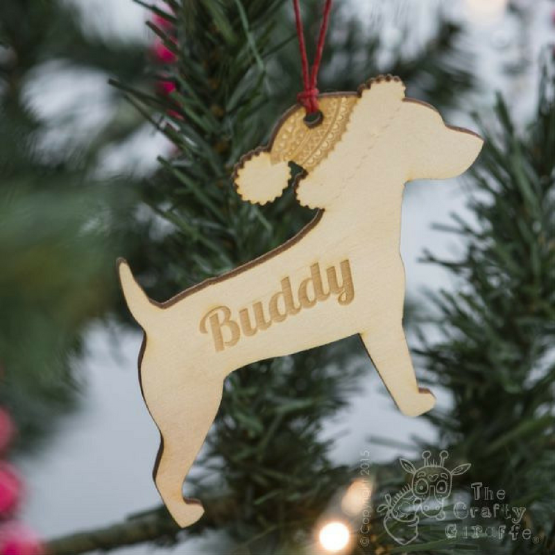 Bauble_ The Crafty Giraffe Personalised Wooden Bauble